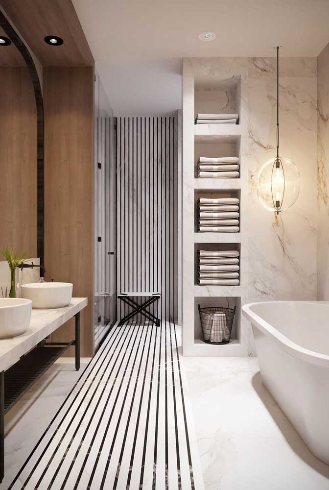 Nicho de mármore para banheiro: toque de sofisticação para o ambiente