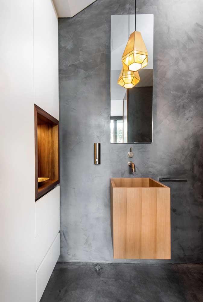 Nicho de madeira com iluminação integrada: conforto e beleza