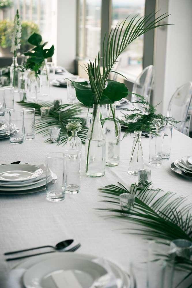 Um toque verde de elegância para a mesa da festa