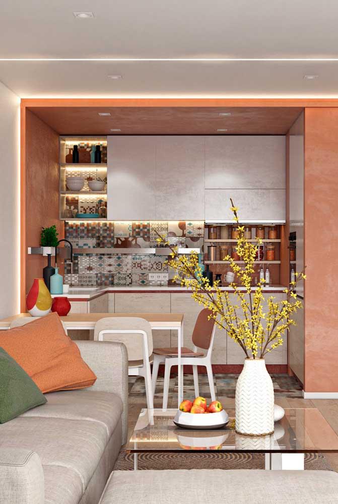A cozinha da caixa laranja!