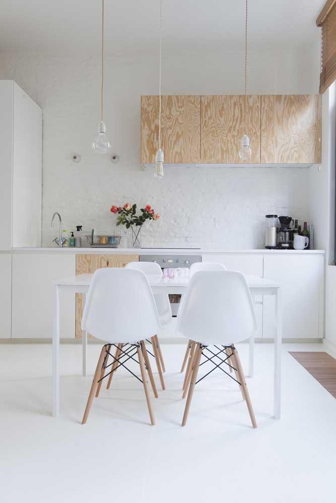 Porcelanato liquido branco para cozinha clean e moderna
