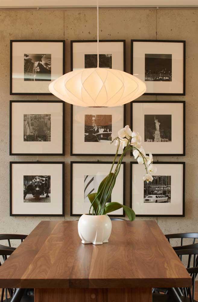 Composição em grade de quadros minimalistas