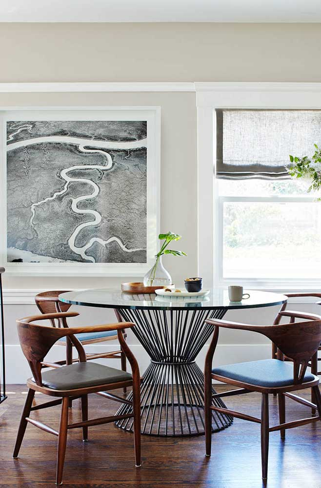 Fotografia abstrata para decorar a sala de jantar moderna