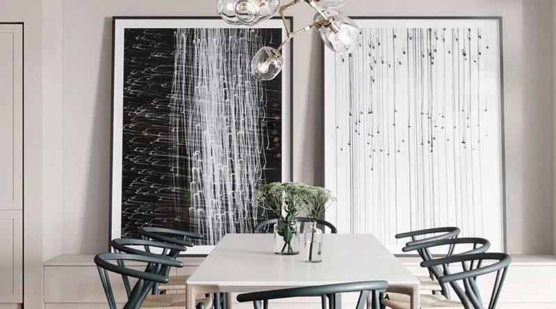 Quadros para sala de jantar: como escolher, dicas e fotos inspiradoras