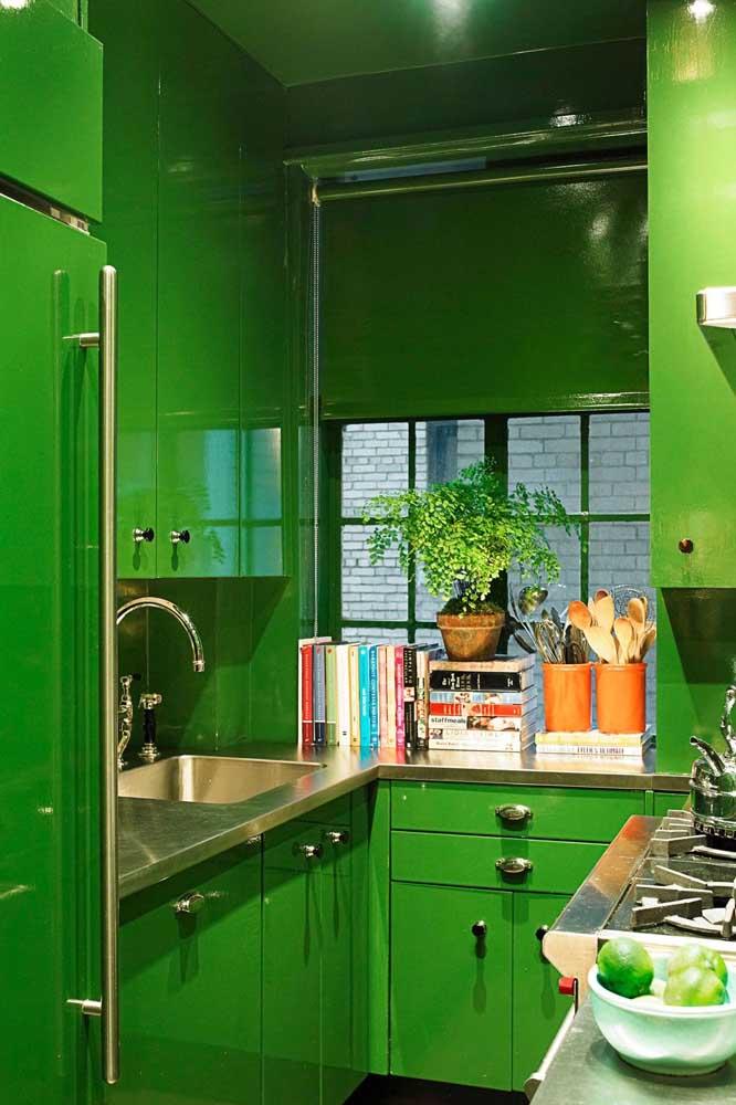 Ou quem sabe de armários verdes!
