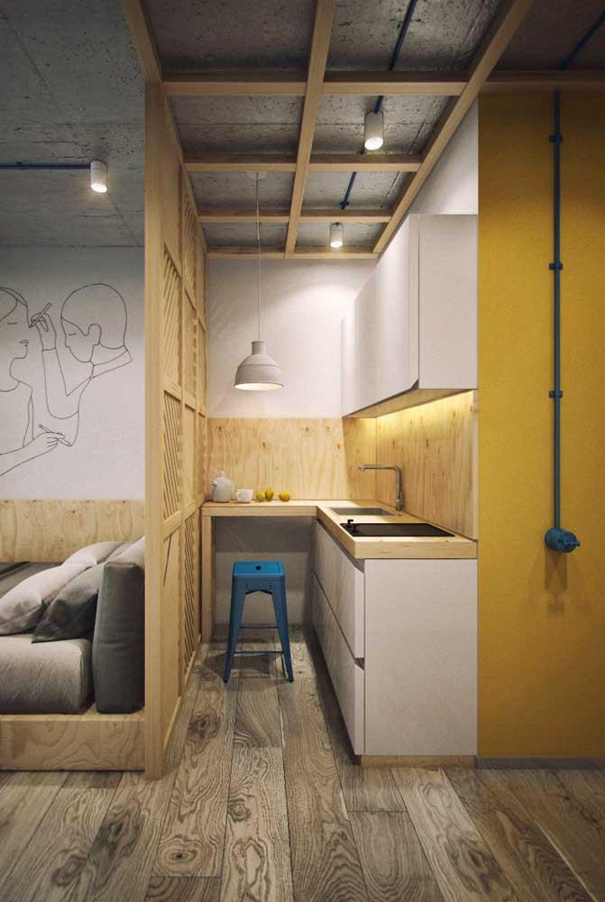 Essa cozinha é a prova de que mesmo nos menores espaços é possível aliar beleza com funcionalidade