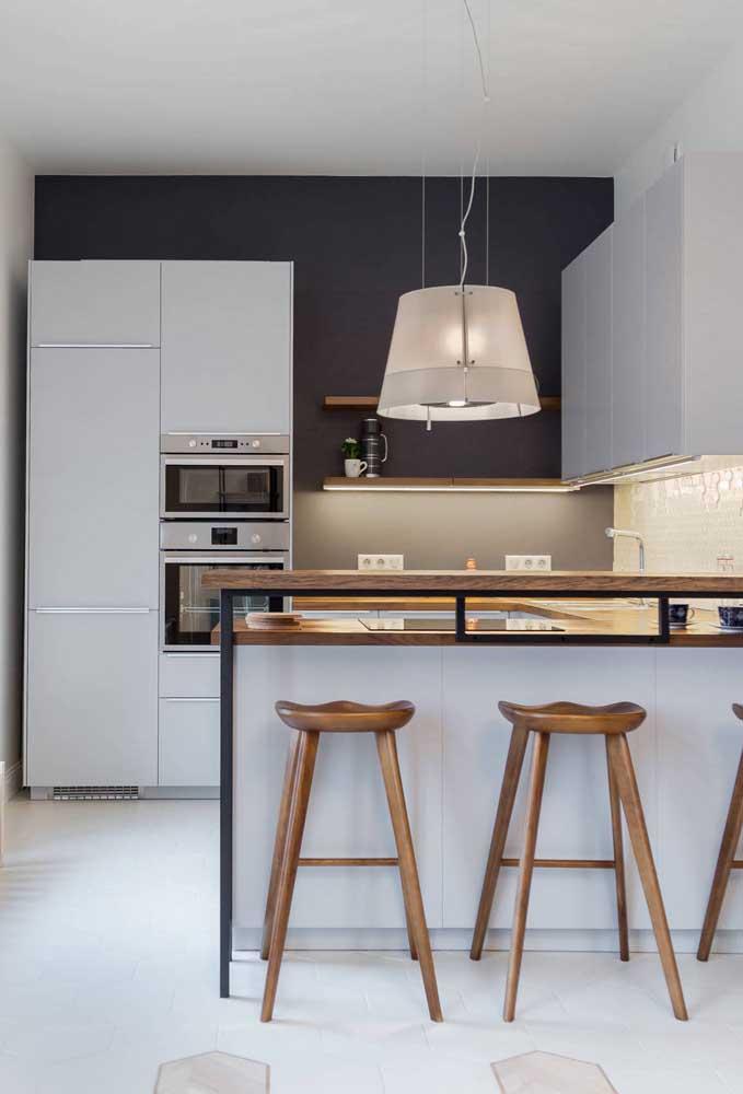 Moderna e funcional, a decoração dessa cozinha não fica devendo em nada