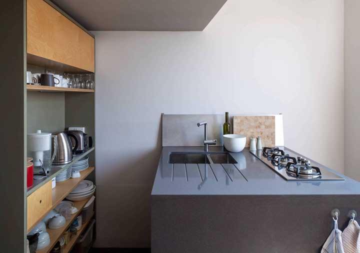 Móveis sob medida e um cooktop do tamanho das necessidades dos moradores
