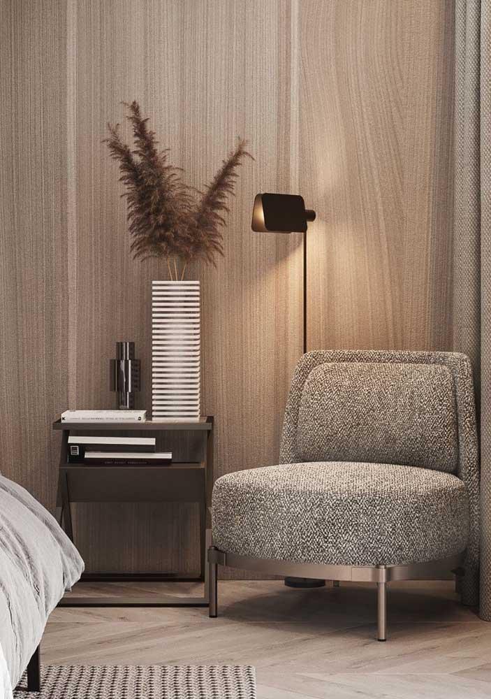 Poltrona decorativa super confortável para o quarto