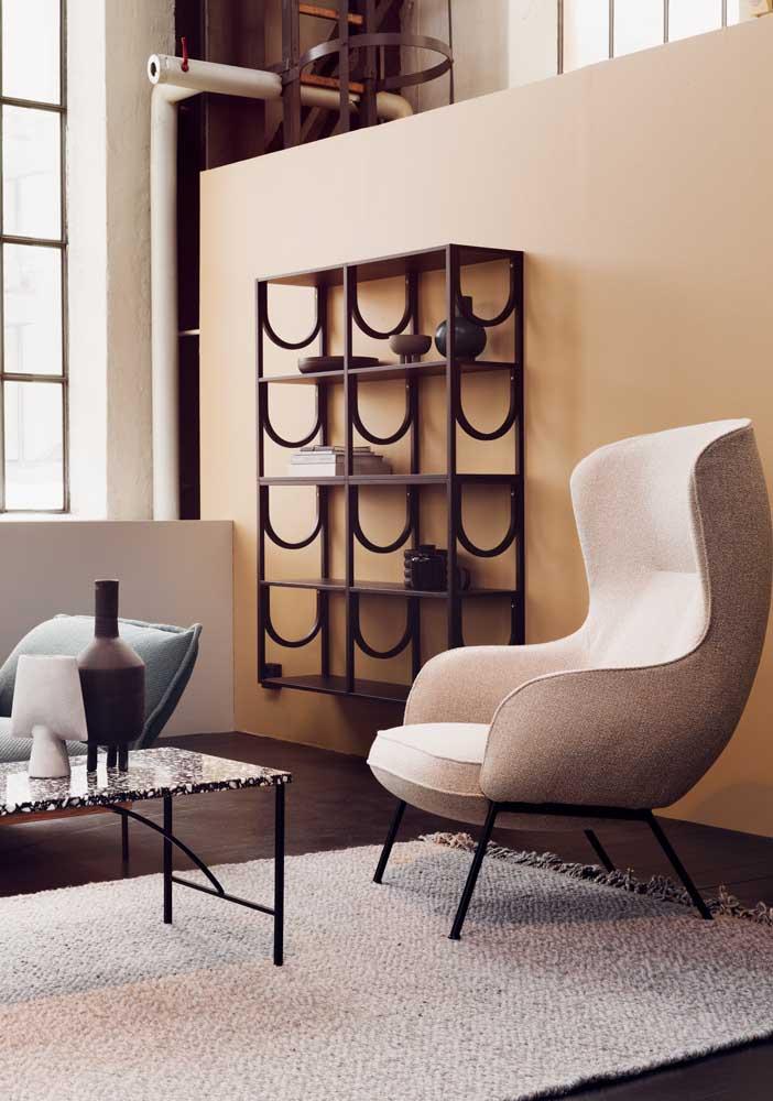Mais do que preencher um espaço vazio, a poltrona decorativa é um plus de conforto em qualquer ambiente