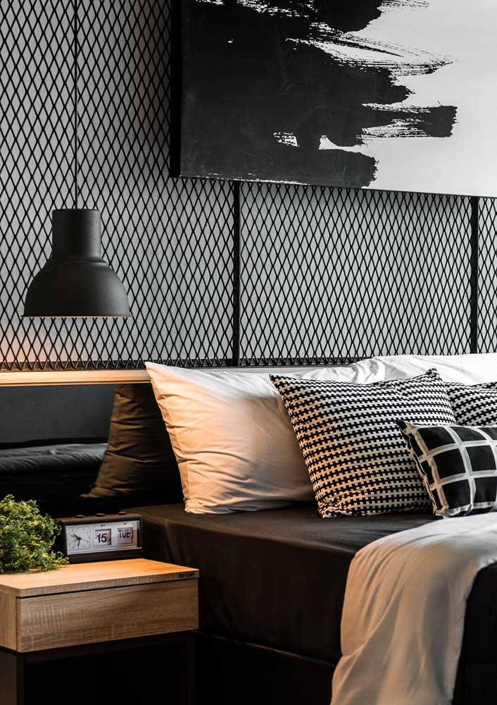 Para um quarto decorado elegante invista no preto