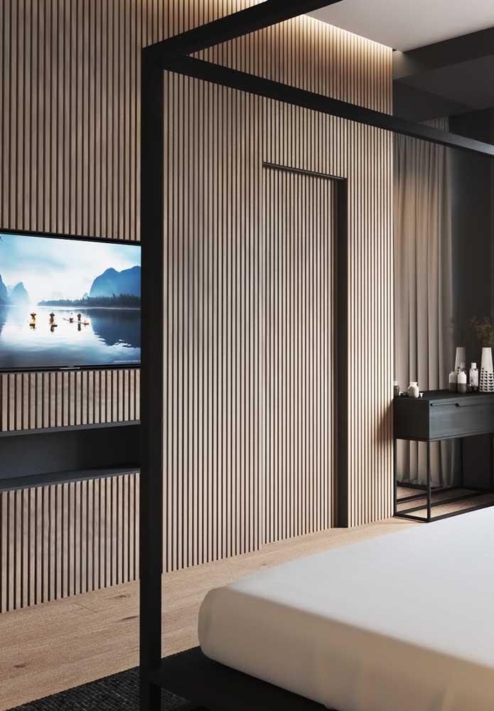 Os incríveis painéis de madeira