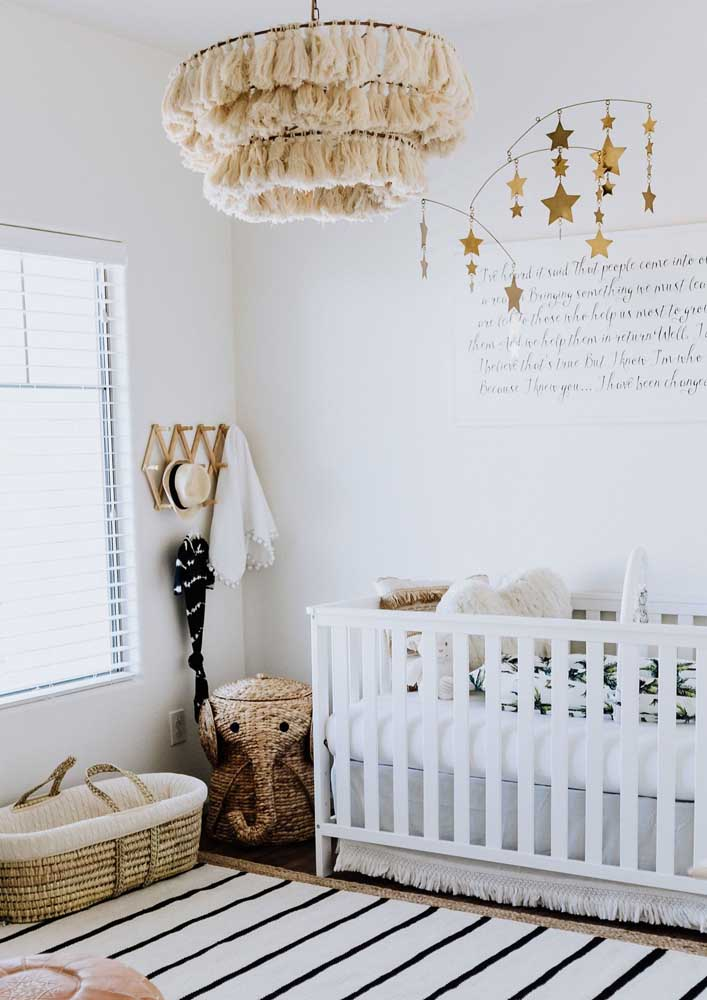 Quarto de bebê decorado para fugir dos padrões