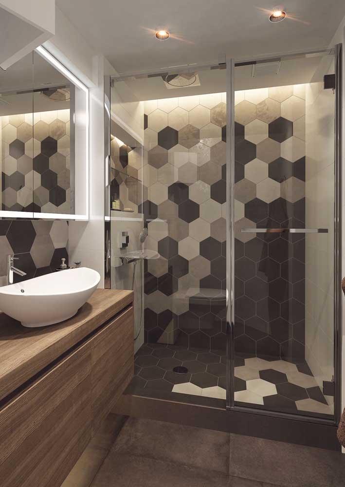 Revestimento hexagonal para banheiro: a tendência do momento