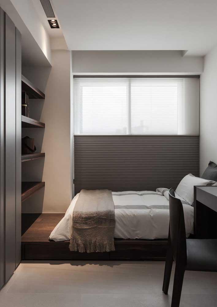 Cortina duofold para o quarto: privacidade e luminosidade sob medida