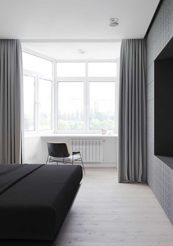 Cortina blackout cinza para o quarto: sono garantido mesmo durante o dia