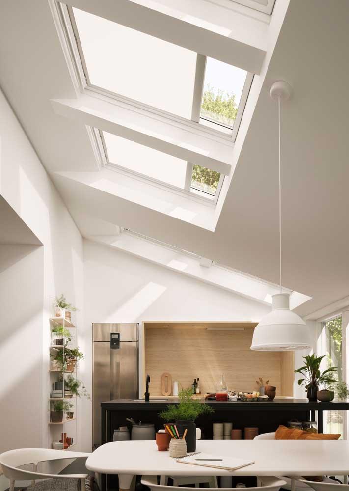 Cortina de teto estilo rolo para cobrir a luminosidade que vem das claraboias