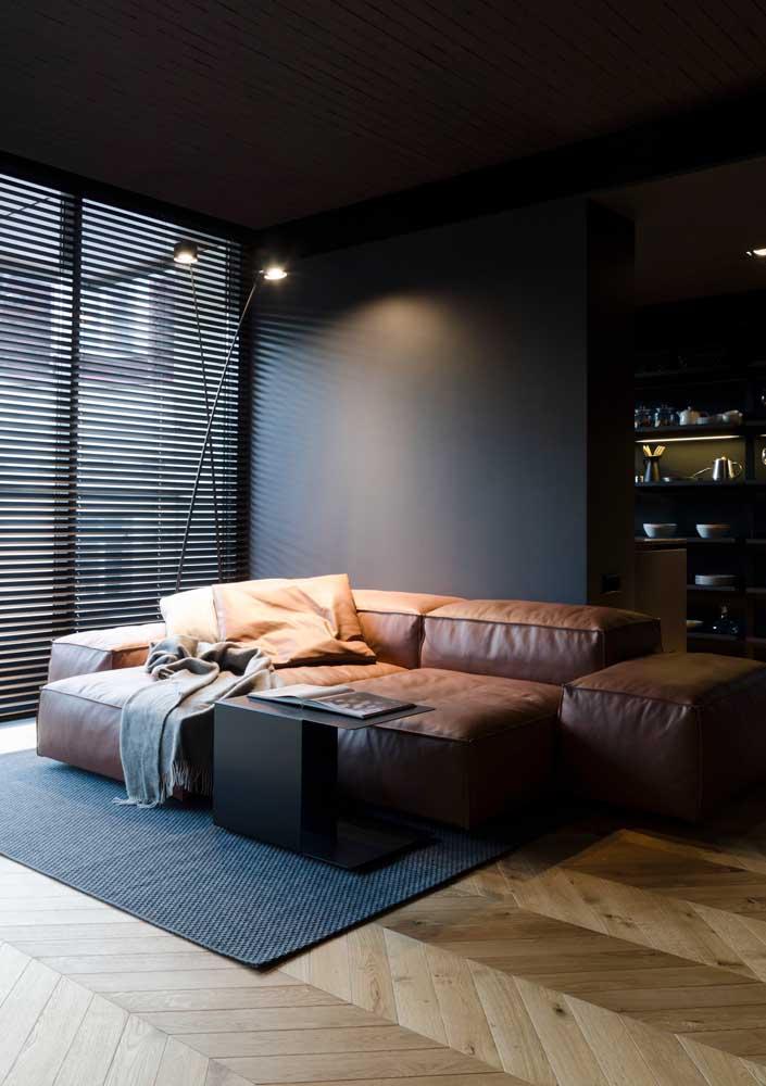 As persianas ocupam menos espaço que as cortinas de tecido
