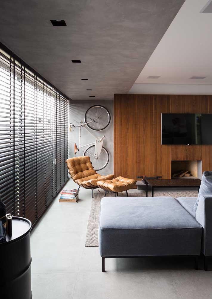 Sala moderna com persiana