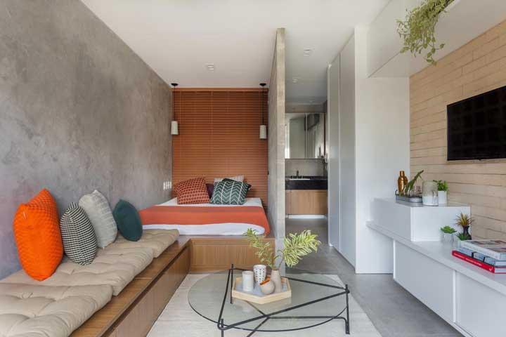 Persiana de madeira para quarto moderno