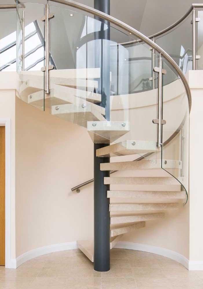 Escada de mármore botticino