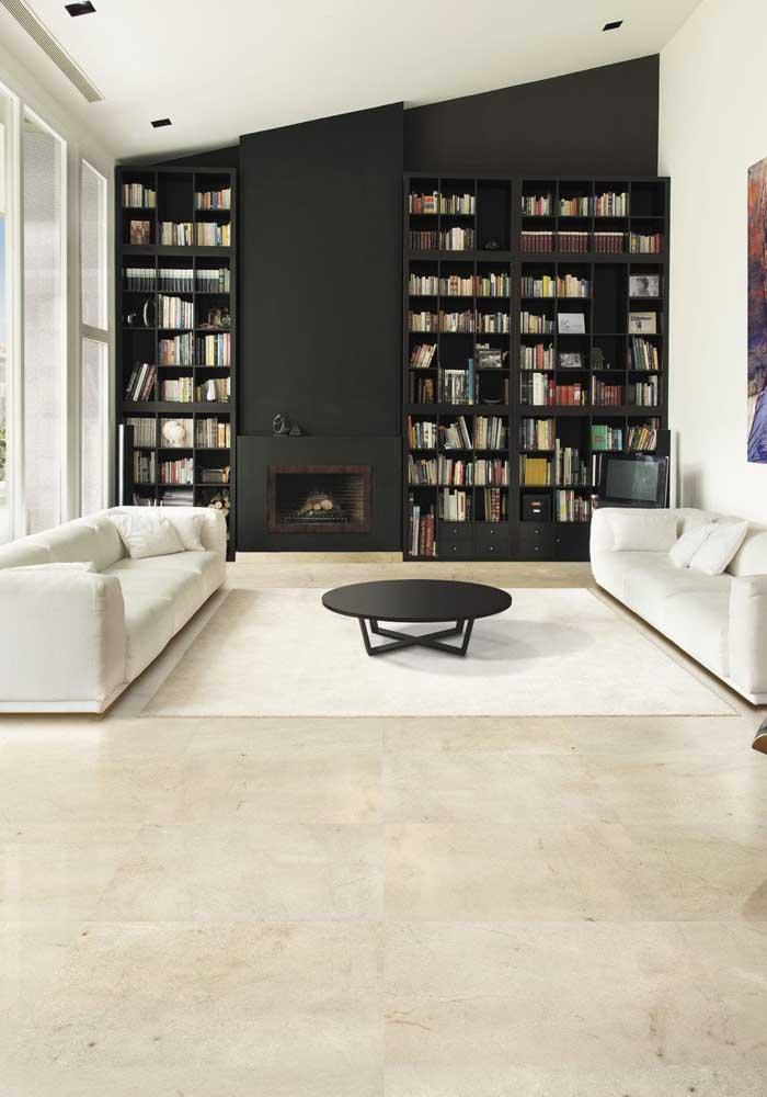 Visual clean e elegante com o mármore cremma