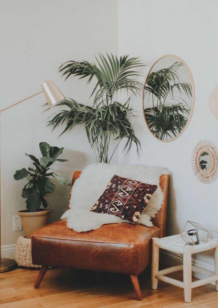 Deixe o verde das plantas integrar a paleta de cores da decoração