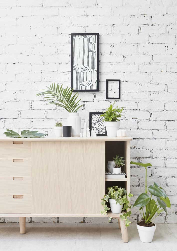Sala moderna com plantas