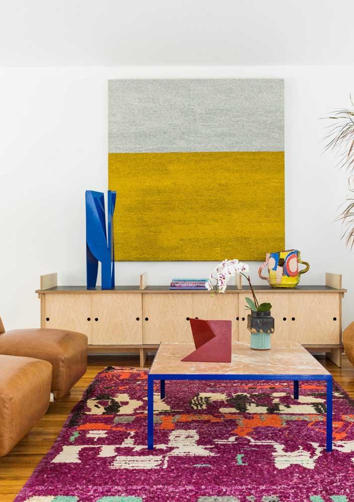 Uma sala colorida que é pura descontração
