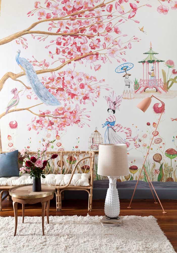Toque oriental na decoração da sala