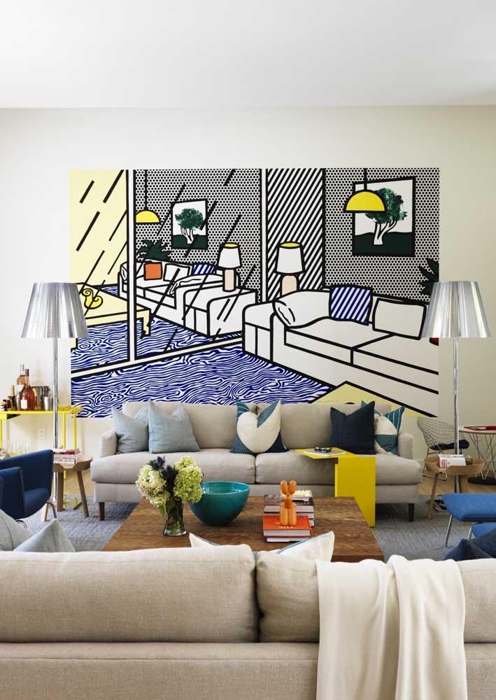 Sala decorada com quadro ou um quadro decorado com a sala?