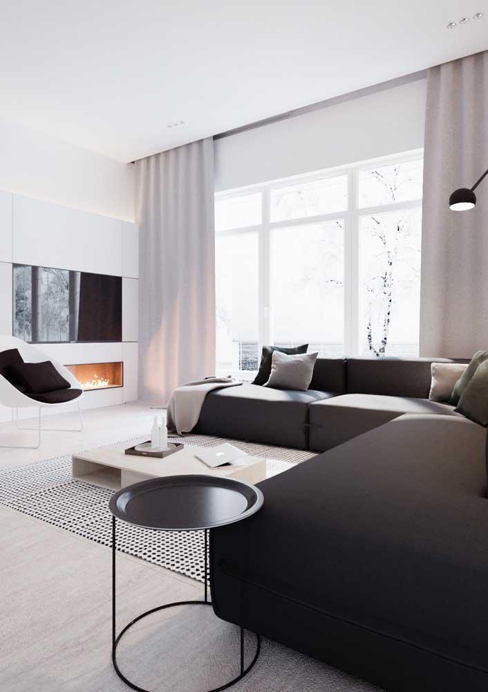 Branco, cinza e preto: uma composição moderna e que sempre dá certo