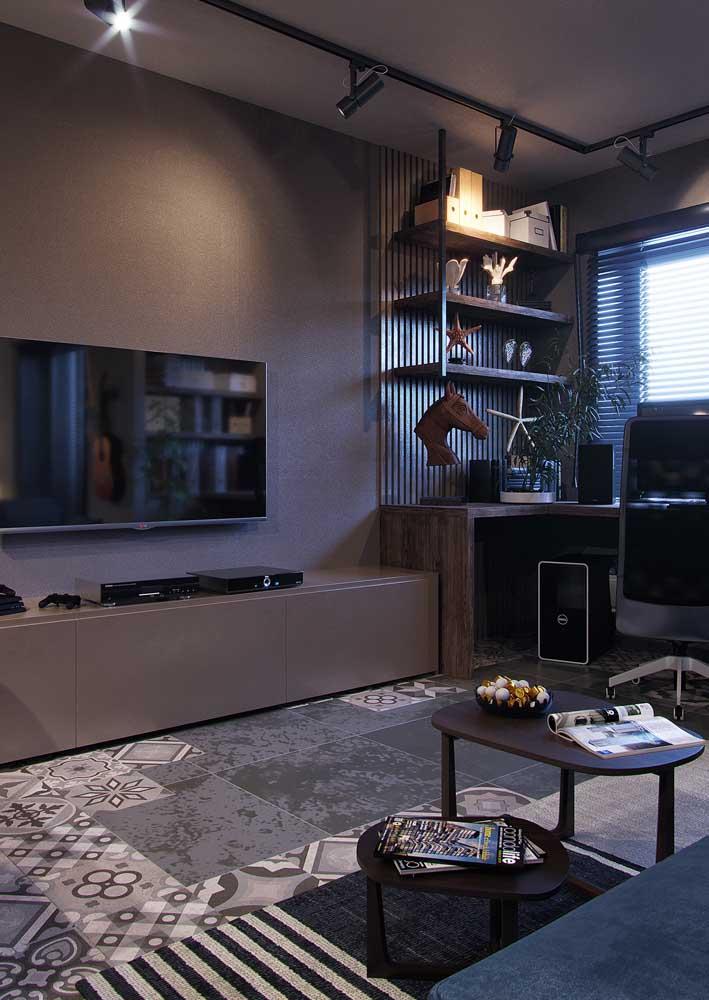 Sala decorada pequena e simples de apartamento para provar que tudo é possível