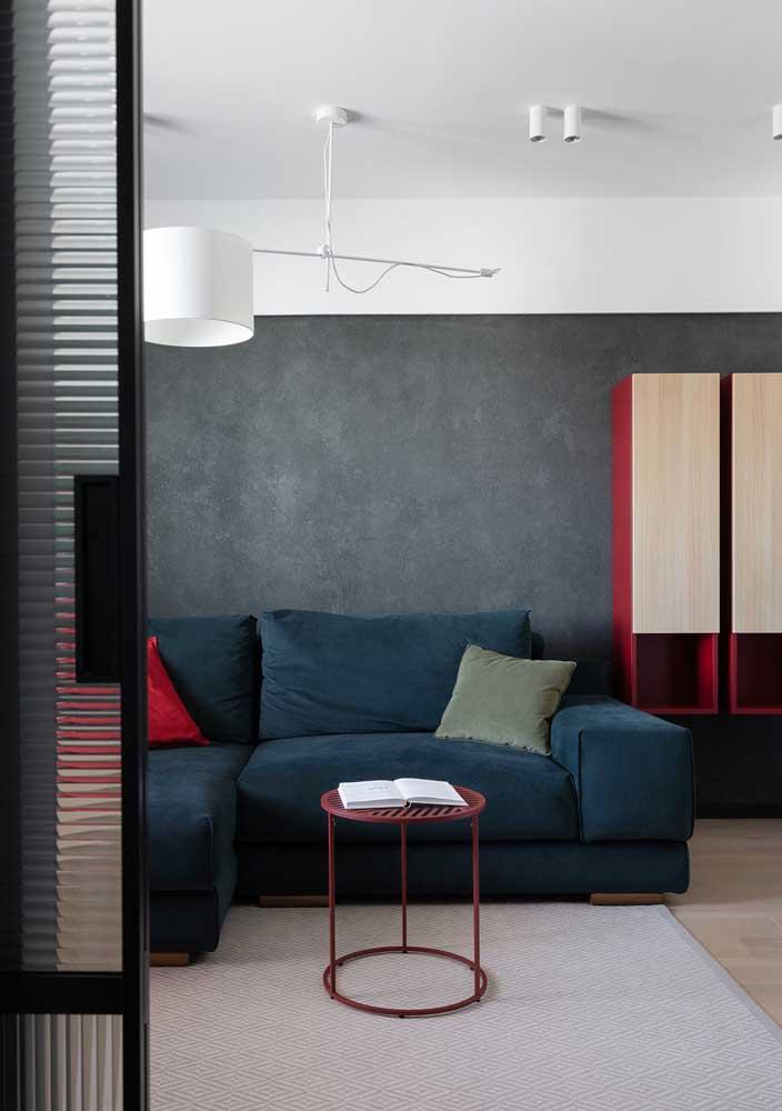 Sala decorada simples e aconchegante