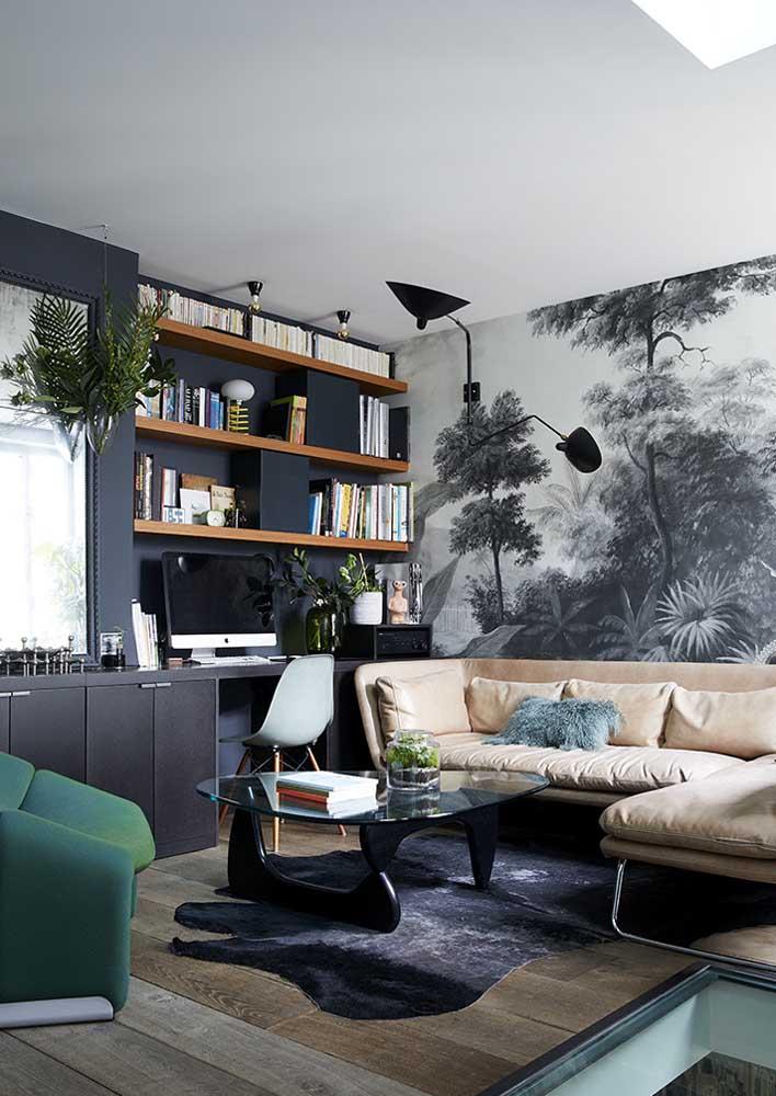 Papel de parede e um azul incrível!