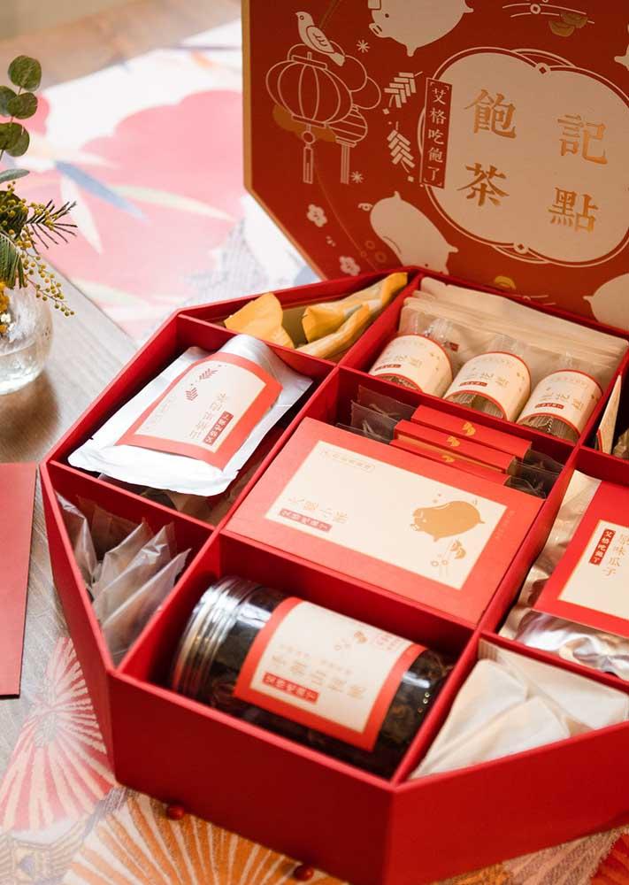Caixinha chinesa de presente para oferecer aos familiares