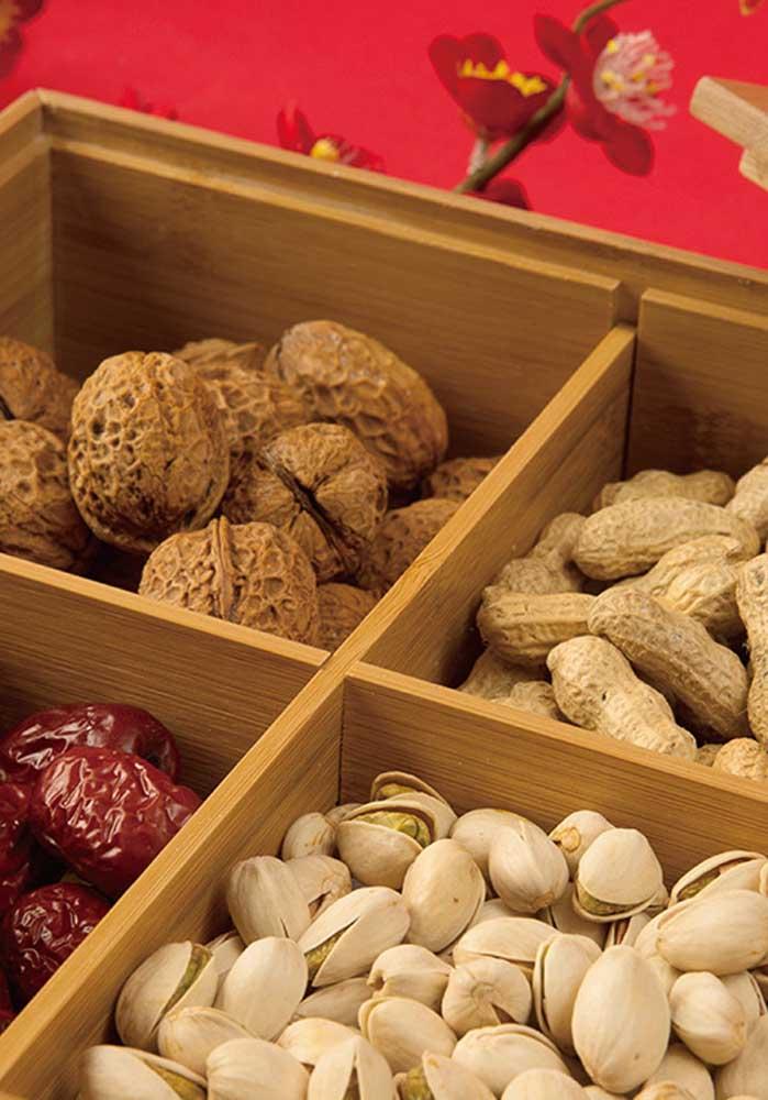 Que tal servir porções de nozes, pistache e amendoins na festa de ano novo chinês?