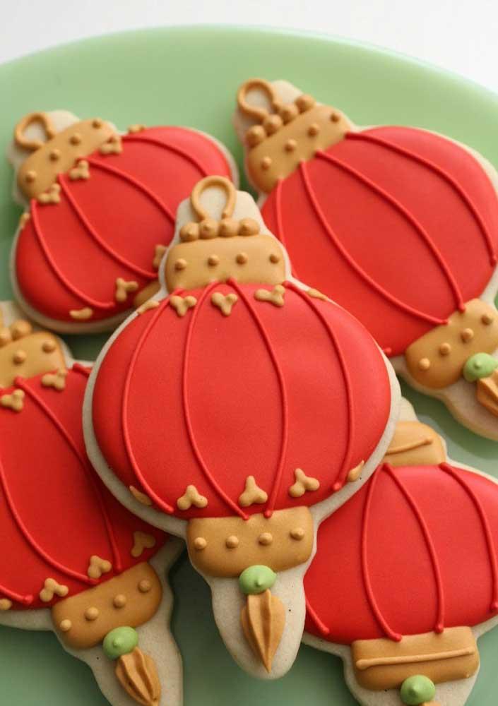 Um mimo esses biscoitinhos em formato de lanternas chinesas