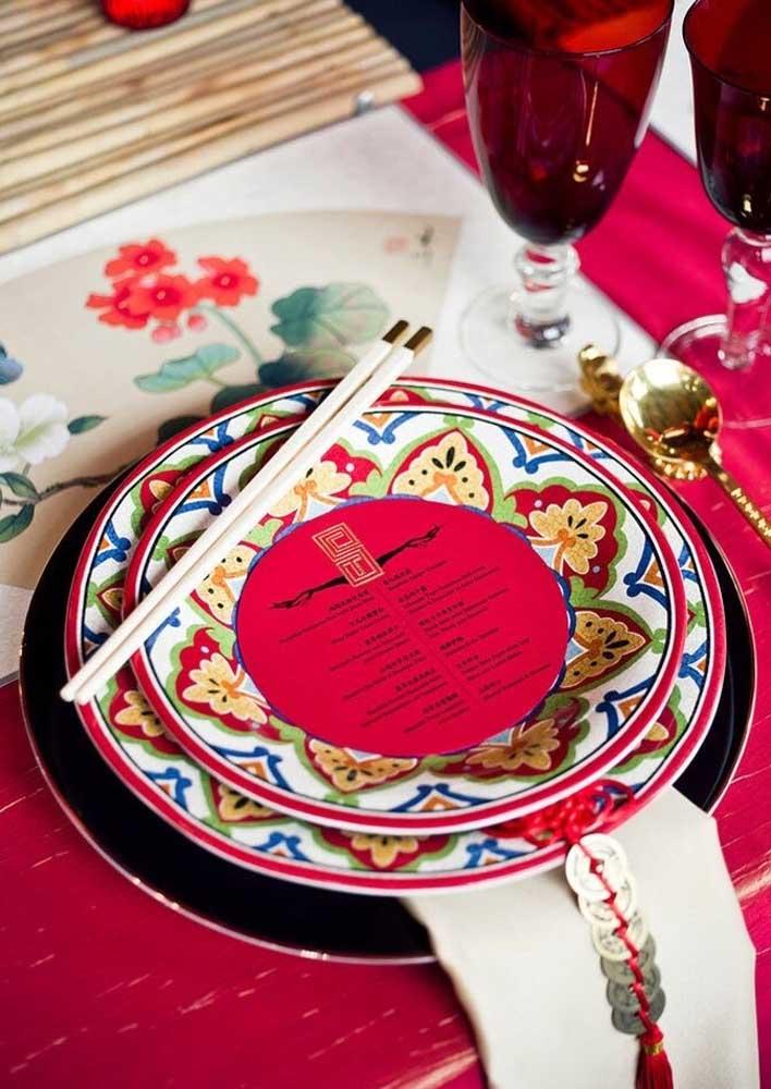 Separe sua louça mais bonita para a decoração da mesa posta do ano novo chinês