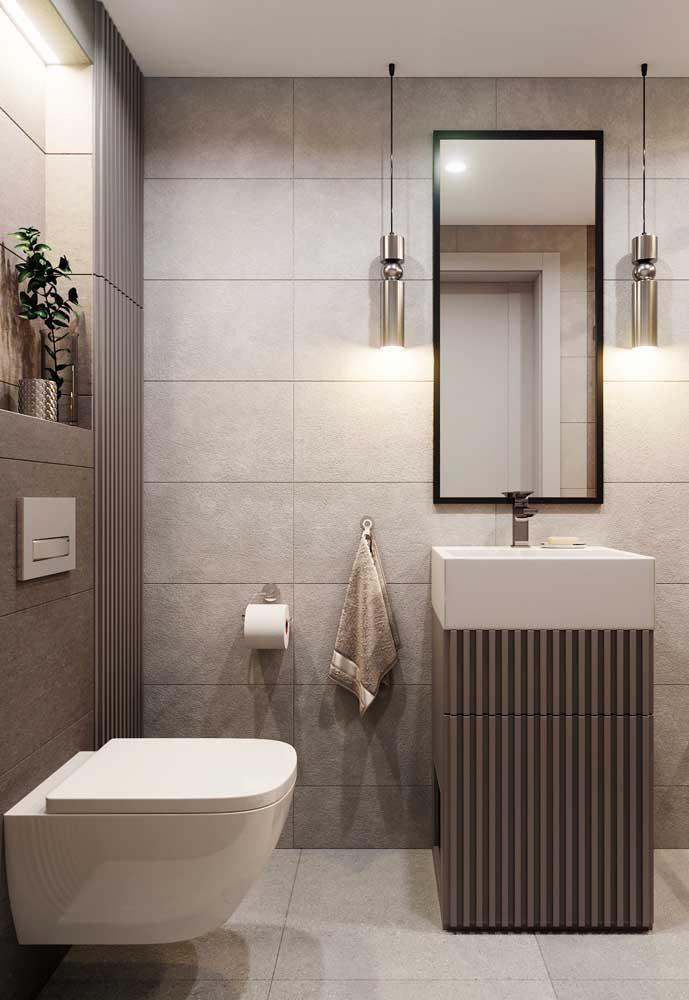 Armário pequeno com cuba para banheiro moderno
