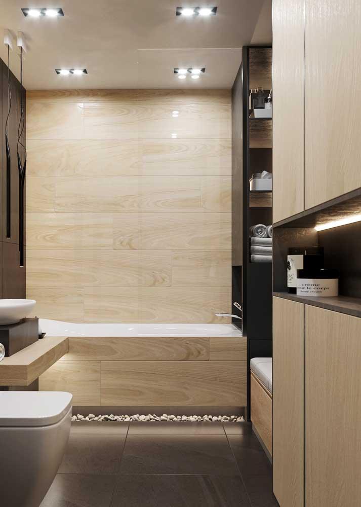 Armário para banheiro combinando com o revestimento