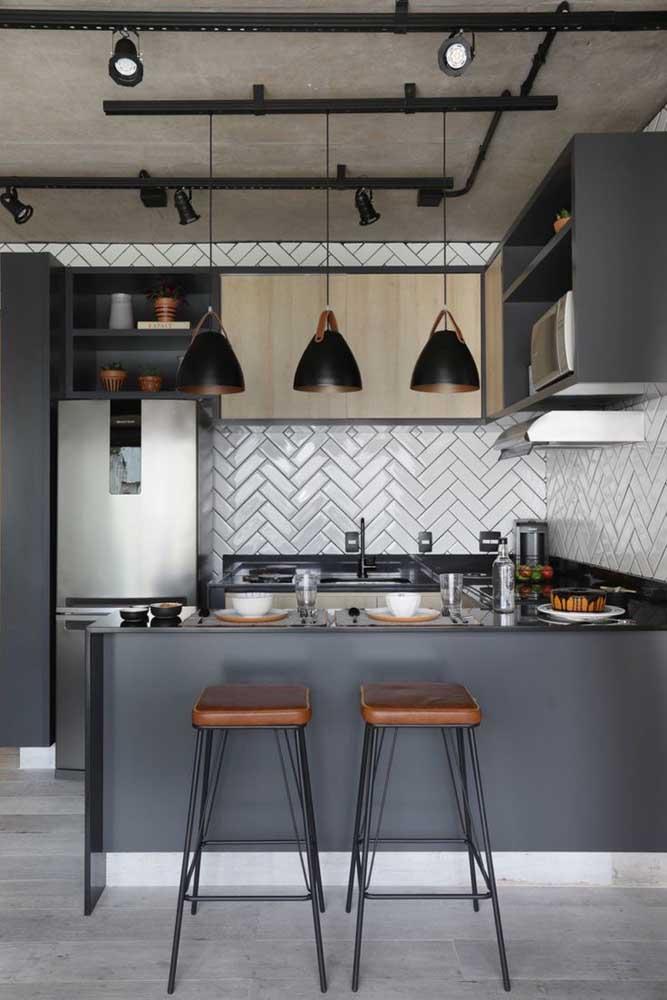 Use e abuse dos nichos para organização vertical da cozinha