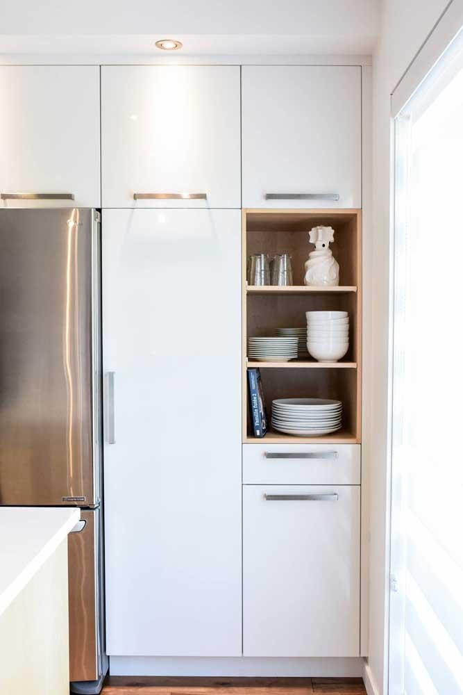 Um nicho para descontrair o armário da cozinha