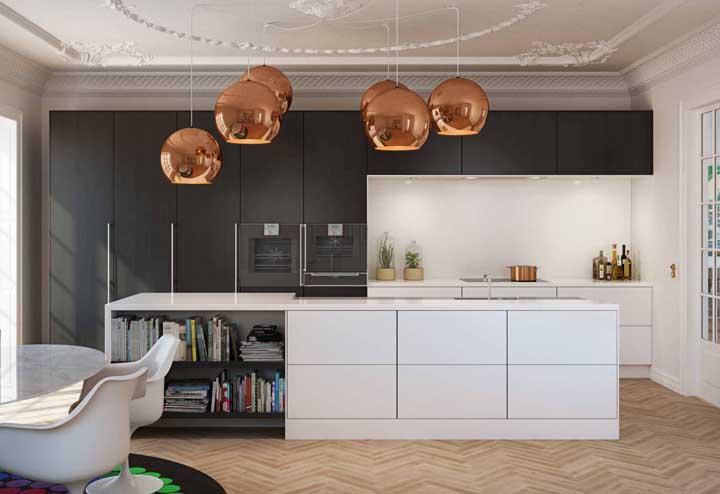 Ilha de cozinha com nichos: prático, bonito e funcional