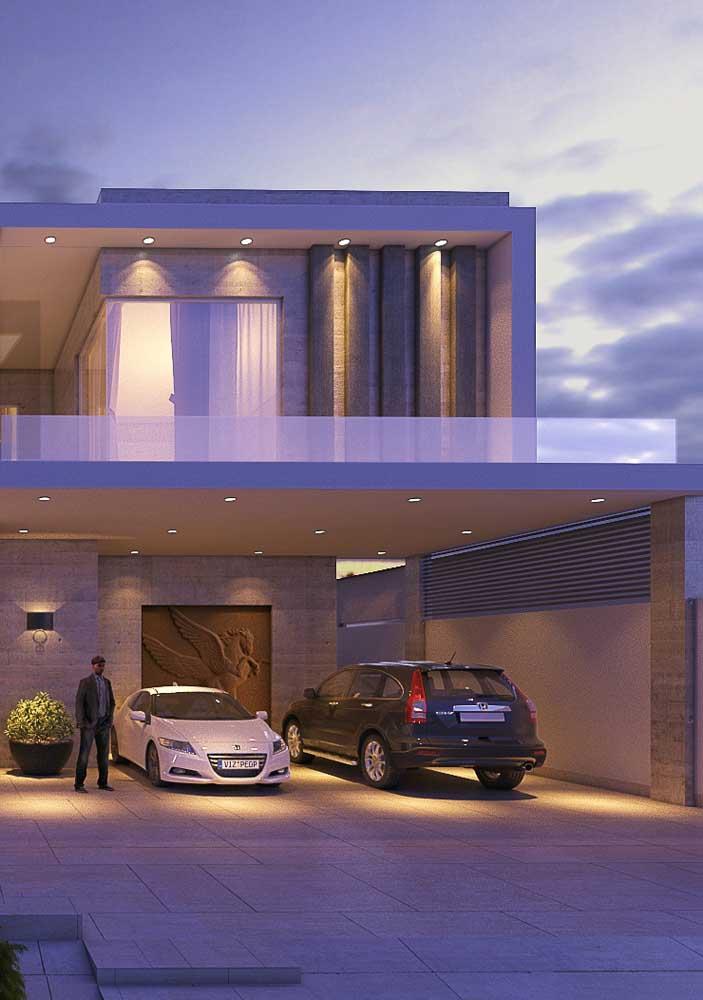 Piso fulget para um projeto de garagem de casa de alto padrão