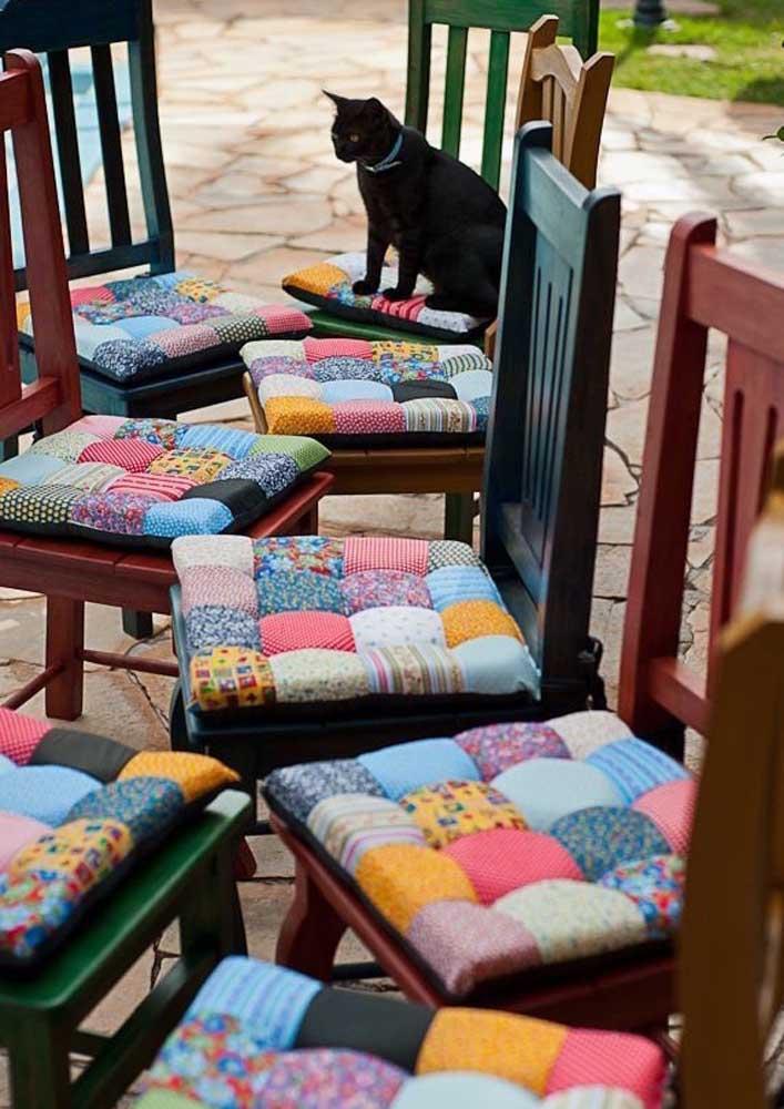 Assentos em patchwork
