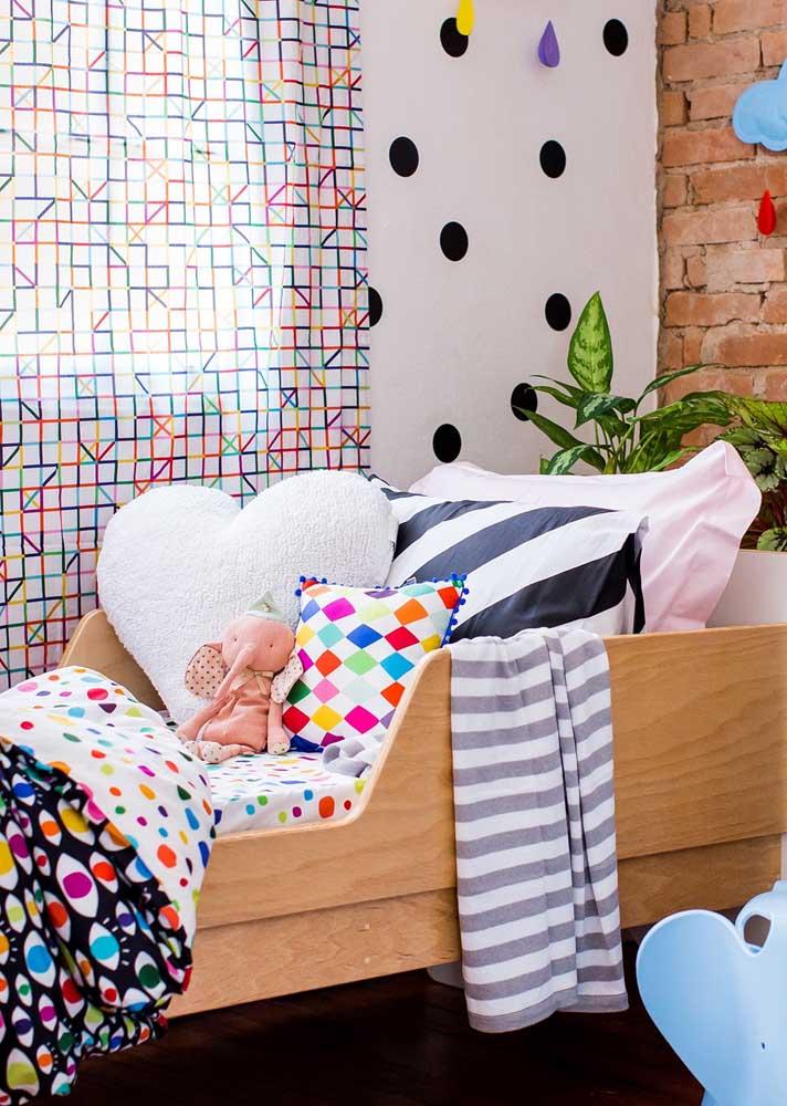 Cortina e roupa de cama combinando