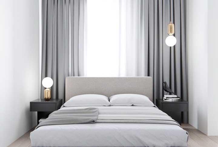 Cinza, na cor do quarto