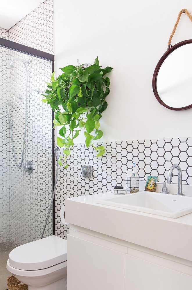 Um toque de verde para o banheiro