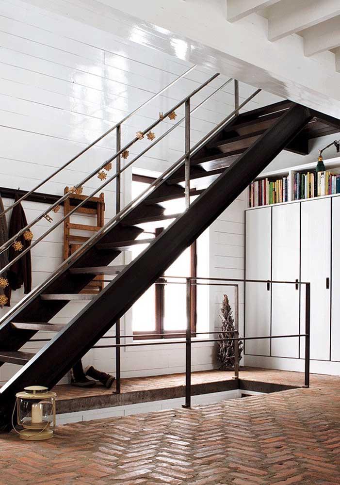 E se você curte um visual rústico, nada impede que o piso intertravado seja usado dentro de casa